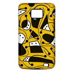 Playful abstract art - Yellow Samsung Galaxy S II i9100 Hardshell Case (PC+Silicone)