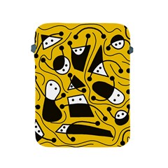Playful abstract art - Yellow Apple iPad 2/3/4 Protective Soft Cases