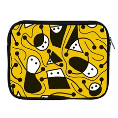 Playful abstract art - Yellow Apple iPad 2/3/4 Zipper Cases