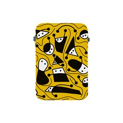 Playful abstract art - Yellow Apple iPad Mini Protective Soft Cases
