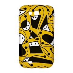 Playful abstract art - Yellow Samsung Galaxy Grand GT-I9128 Hardshell Case
