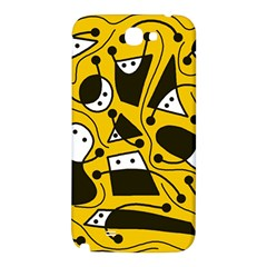 Playful abstract art - Yellow Samsung Note 2 N7100 Hardshell Back Case