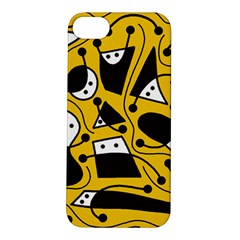 Playful abstract art - Yellow Apple iPhone 5S/ SE Hardshell Case