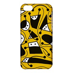 Playful abstract art - Yellow Apple iPhone 5C Hardshell Case