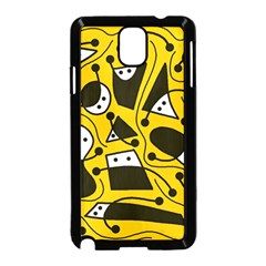 Playful abstract art - Yellow Samsung Galaxy Note 3 Neo Hardshell Case (Black)