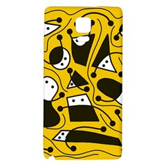 Playful abstract art - Yellow Galaxy Note 4 Back Case