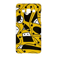 Playful abstract art - Yellow Samsung Galaxy A5 Hardshell Case