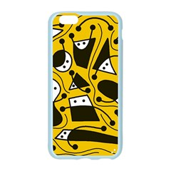 Playful abstract art - Yellow Apple Seamless iPhone 6/6S Case (Color)