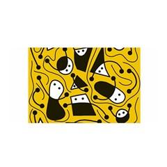 Playful abstract art - Yellow Satin Wrap