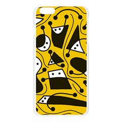 Playful abstract art - Yellow Apple Seamless iPhone 6 Plus/6S Plus Case (Transparent)