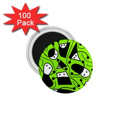 Playful abstract art - green 1.75  Magnets (100 pack)