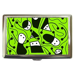 Playful abstract art - green Cigarette Money Cases