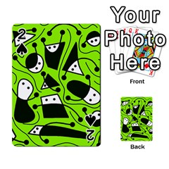 Playful abstract art - green Playing Cards 54 Designs