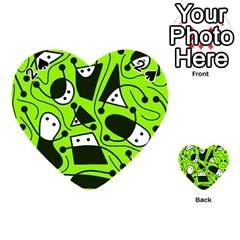 Playful abstract art - green Playing Cards 54 (Heart)