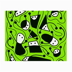 Playful abstract art - green Small Glasses Cloth (2-Side)