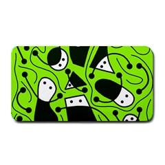 Playful abstract art - green Medium Bar Mats
