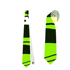 Playful abstract art - green Neckties (Two Side)