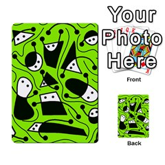 Playful abstract art - green Multi-purpose Cards (Rectangle)