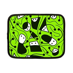 Playful abstract art - green Netbook Case (Small)