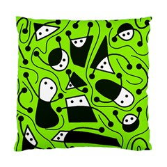 Playful abstract art - green Standard Cushion Case (Two Sides)