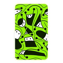 Playful abstract art - green Memory Card Reader