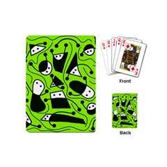 Playful abstract art - green Playing Cards (Mini)