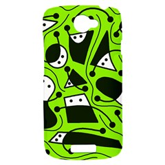 Playful abstract art - green HTC One S Hardshell Case