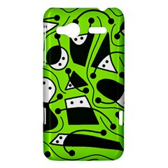 Playful abstract art - green HTC Radar Hardshell Case