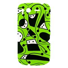 Playful abstract art - green HTC Desire S Hardshell Case