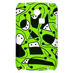 Playful abstract art - green Samsung S3350 Hardshell Case