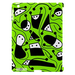 Playful abstract art - green Apple iPad 3/4 Hardshell Case (Compatible with Smart Cover)