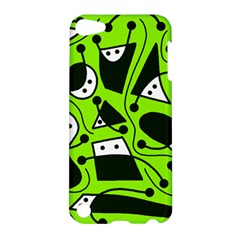 Playful abstract art - green Apple iPod Touch 5 Hardshell Case