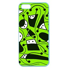 Playful abstract art - green Apple Seamless iPhone 5 Case (Color)