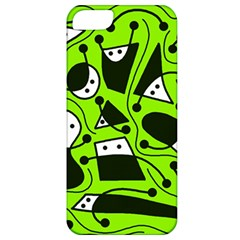 Playful abstract art - green Apple iPhone 5 Classic Hardshell Case