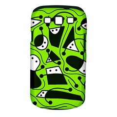 Playful abstract art - green Samsung Galaxy S III Classic Hardshell Case (PC+Silicone)