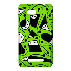 Playful abstract art - green HTC One SU T528W Hardshell Case