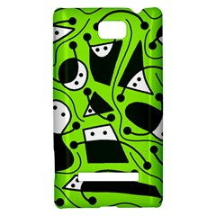 Playful abstract art - green HTC 8S Hardshell Case