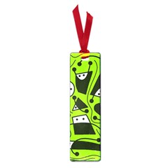 Playful abstract art - green Small Book Marks