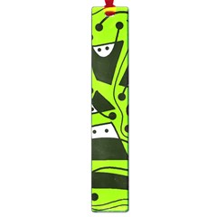 Playful abstract art - green Large Book Marks