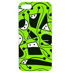 Playful abstract art - green Apple iPhone 5 Hardshell Case with Stand