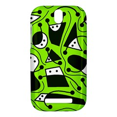 Playful abstract art - green HTC One SV Hardshell Case