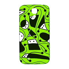 Playful abstract art - green Samsung Galaxy S4 I9500/I9505  Hardshell Back Case