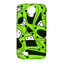 Playful abstract art - green Samsung Galaxy S4 Classic Hardshell Case (PC+Silicone)