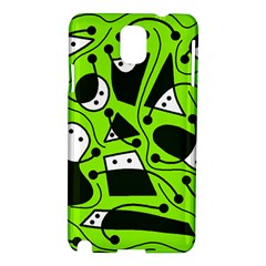 Playful abstract art - green Samsung Galaxy Note 3 N9005 Hardshell Case