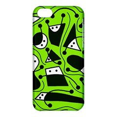 Playful abstract art - green Apple iPhone 5C Hardshell Case