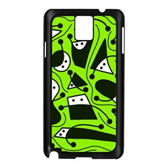 Playful abstract art - green Samsung Galaxy Note 3 N9005 Case (Black)