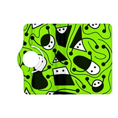 Playful abstract art - green Kindle Fire HD (2013) Flip 360 Case