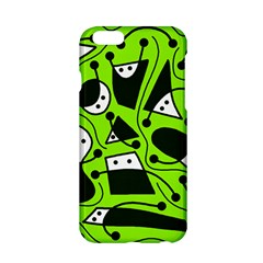Playful abstract art - green Apple iPhone 6/6S Hardshell Case