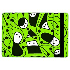 Playful abstract art - green iPad Air 2 Flip