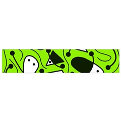 Playful abstract art - green Flano Scarf (Small)